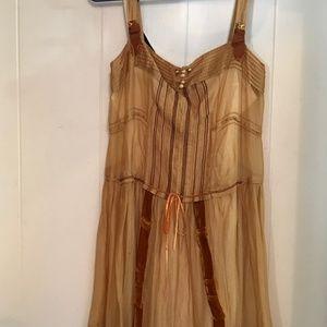 Louis Vuitton Golden Dress Size 36 Vintage Look